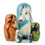 Russian Horses Stacking Doll