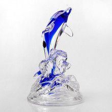 Blue Dolphin Art Glass