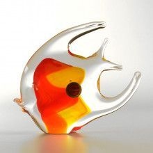 Red/Yellow Art Glass Fish