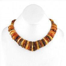 Aphrodite Multicolored Amber Necklace
