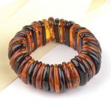 Multi-Colored Natural Amber Bracelet