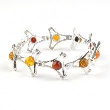 Amber Tri-Color Ball Bracelet