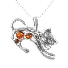 Honey Amber Cat Pendant