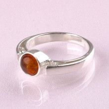 Honey Bead Amber Ring