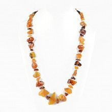 Natural Amber Pebbles Necklace