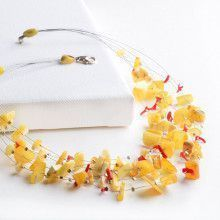 Multi-Strand Butterscotch Necklace