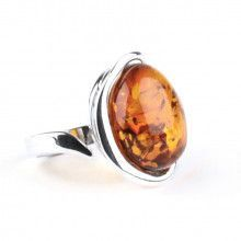Delicate Honey Amber Ring