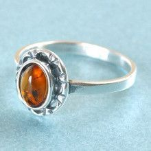 Simple & Small Amber Ring