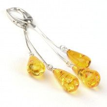 Citrine Amber Teardrops Earrings