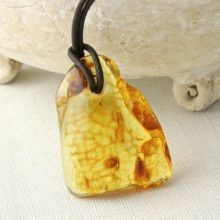 Unisex Natural Amber Necklace