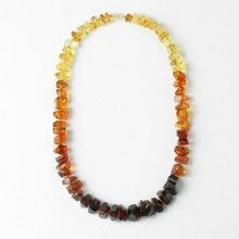 Geometric Quad-Color Amber Necklace