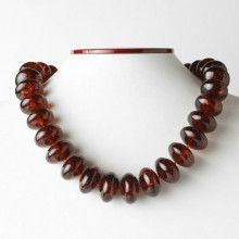 Cherry Amber Beads Necklace