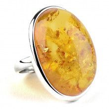 Huge Genuine Honey Amber Ring
