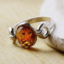 Circles of Amber Ring