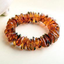 Chips of Amber Stretchy Bracelet