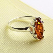 Honey Sliver Amber Ring