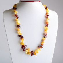 Dancing Chips of Amber Necklace
