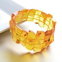 Light Honey Amber Stretch Bracelet
