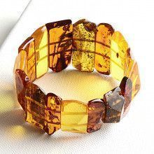Multi-Colored Faceted Amber Beads Bracelet