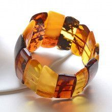 Multi-Colored Genuine Amber Bracelet