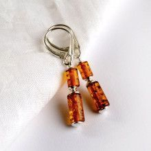 Amber Bars Dangling Earrings