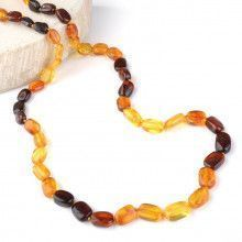 Multi-colored Amber Beads Necklace