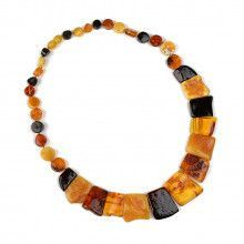 Multi Colored Cleopatra Style Amber Necklace