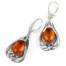 Classic Design Amber Earrings