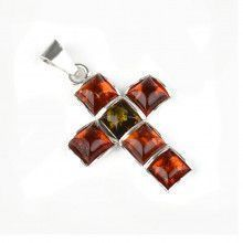 Timeless Unisex Amber Cross Pendant