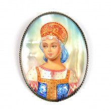 Mother of Pearl Portrait Brooch