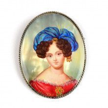 Nobel Woman Portrait Brooch