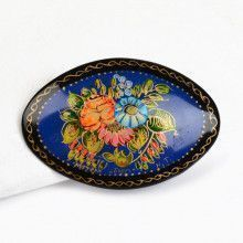 Hand-Crafted Flowers Brooch Pin