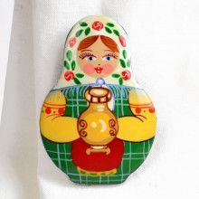 Matryoshka with Samovar Pin