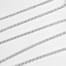 1 1/4mm Silver Rope Chain