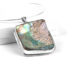 Abalone Silver Necklace