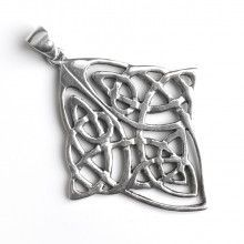 Diamond Shape Celtic Silver Pendant