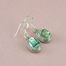 Abalone Silver Earrings