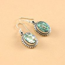 Abalone in Silver Earrings