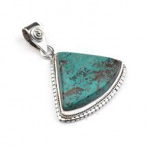 Triangular Chrysocolla Pendant