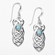 Celtic Knot with Turquoise Earrings