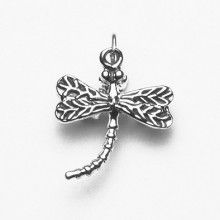 Cute Dragonfly Silver Pendant