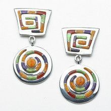 Sterling Silver Southwestern Style Earrings