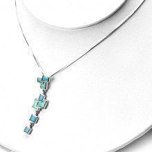 Southwestern Turquoise and Silver Pendant