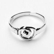 Simple Sterling Celtic Swirl Ring