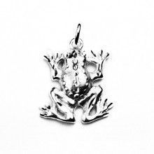 Cute Sterling Silver Froggy Pendant