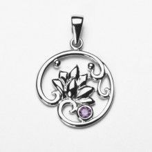 Sterling Silver Leaves in Breeze Pendant
