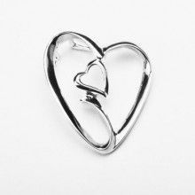 Two Hearts Together Forever Sterling Silver Pendant