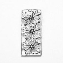 Three Flowers Sterling Silver Pendant