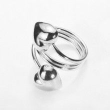 Love For Two Hearts Ring