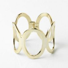 Giant Gold Ovals Fashion Bracelet